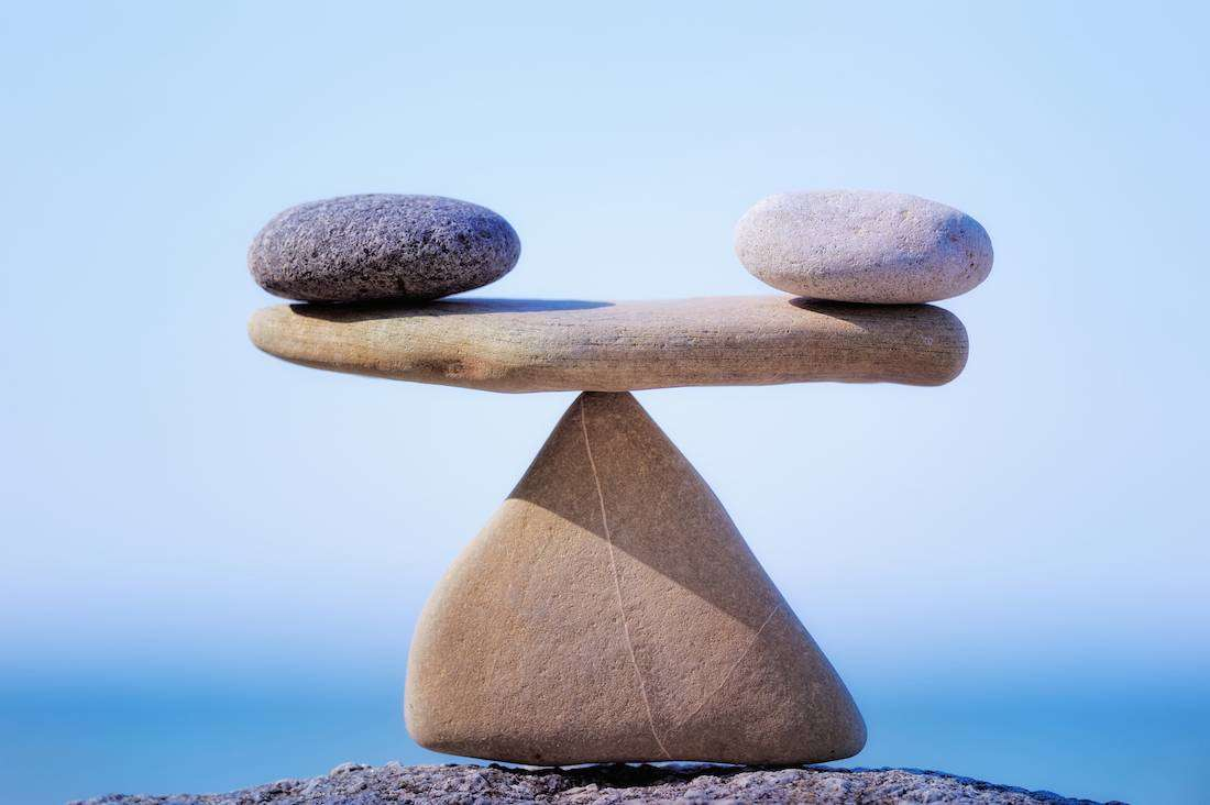 Stones as balancing scales in GDPR
