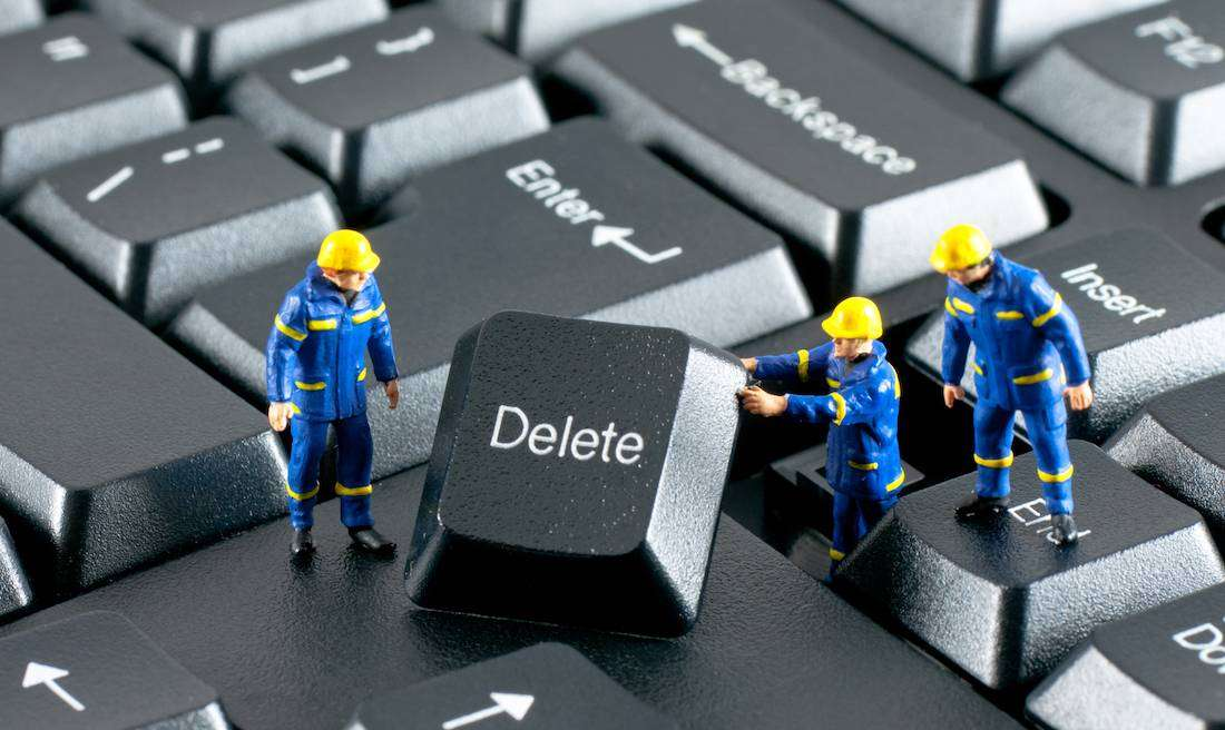 Experts pressing the delete button