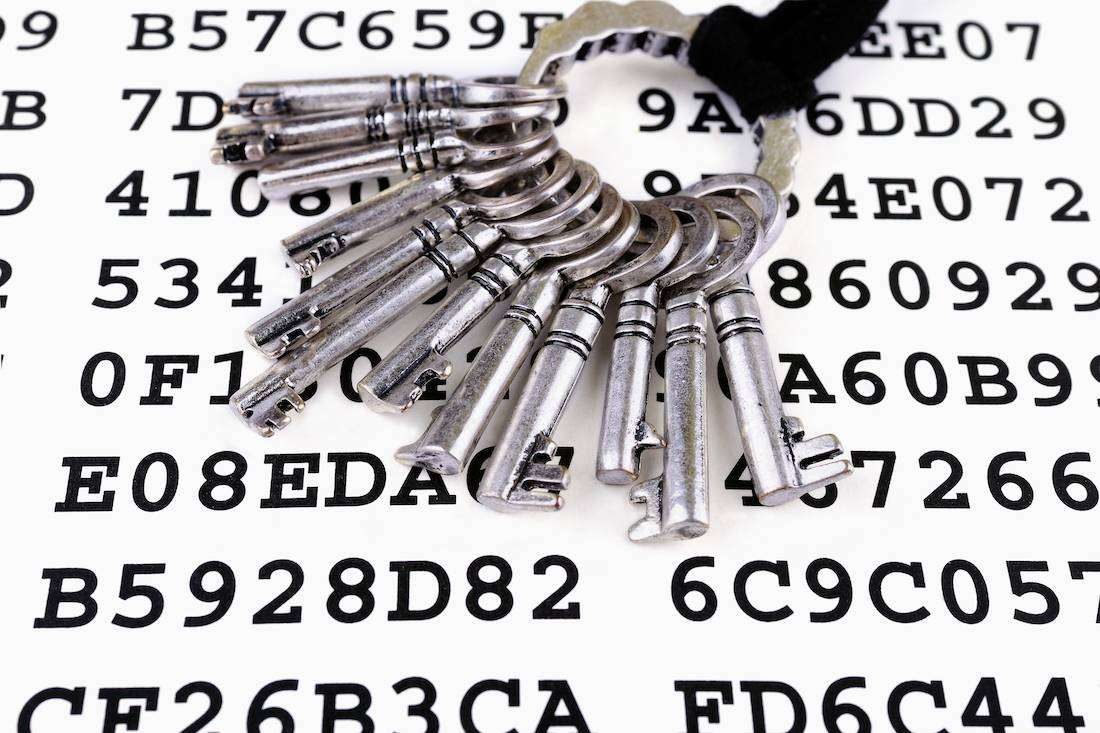 Encryption keys on paper
