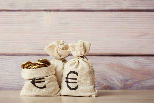 Money bags euros business